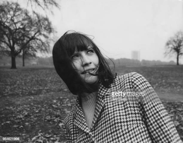 English singer Sandie Shaw in Hyde Park London November 1964