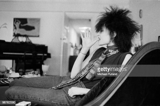English singer Siouxsie Sioux of rock group Siouxsie And The Banshees London 1980
