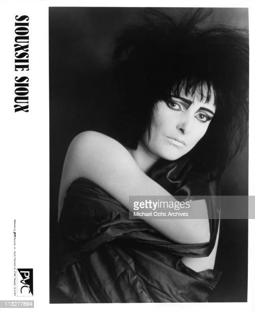 English singer Siouxsie Sioux of Siouxsie And The Banshees poses for a PVC Records publicity still in 1981