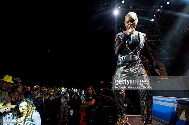 English singer Skin and his group Skunk Anansie performs in concert at Rock in Rome Festival on july 15 2016 in Rome Italy