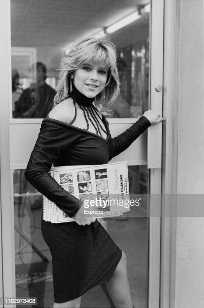English singer, songwriter, actress, and fashion model Samantha Fox, UK, 25th November 1984.