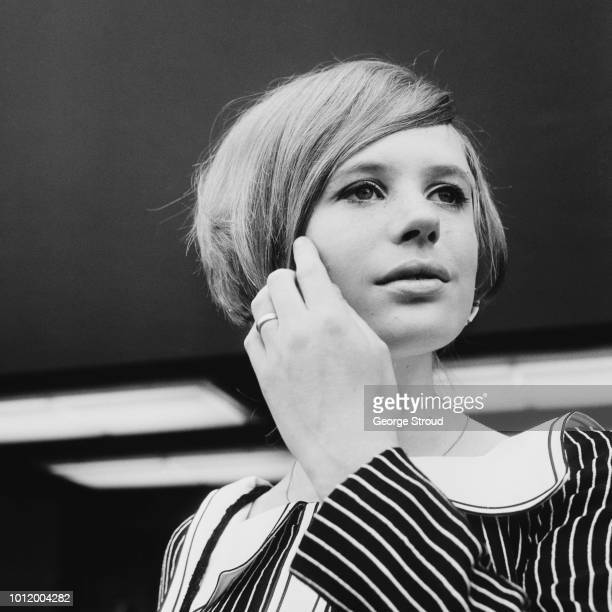 English singer songwriter and actress Marianne Faithfull at Heathrow Airport UK 17th June 1966