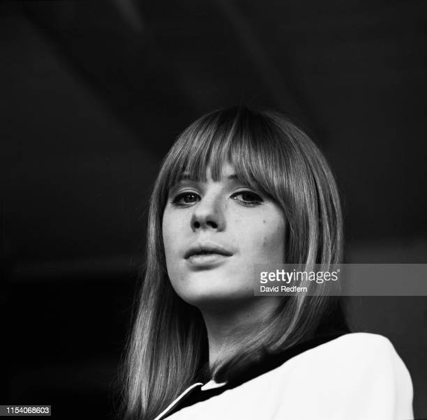 English singer songwriter and actress Marianne Faithfull poses for a portrait backstage at Aston Studios during the filming of 'Thank Your Lucky...