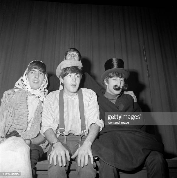 English singer songwriter and guitarist George Harrison English singer songwriter and bassist Paul McCartney English singer and drummer Ringo Starr...