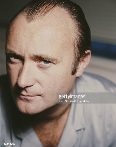 English singer songwriter and instrumentalist Phil Collins posed in London in 1988