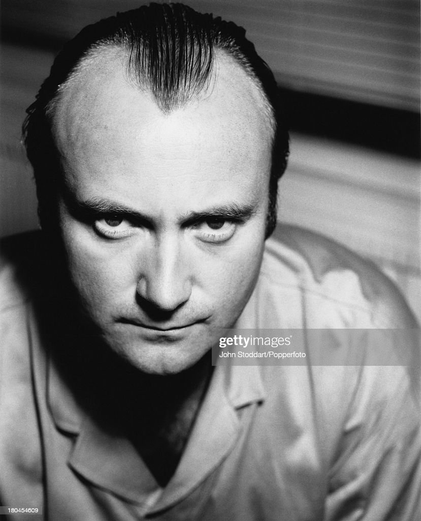 English singer, songwriter and instrumentalist Phil Collins posed in London in 1988.