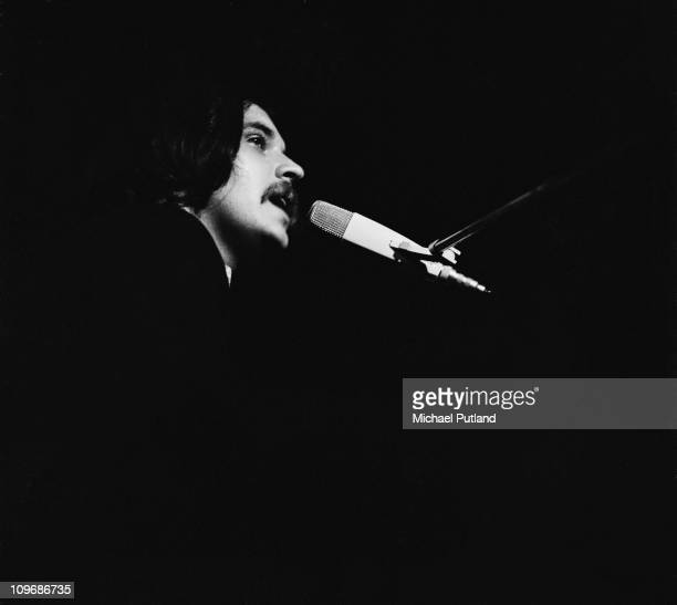 English singer songwriter and musician Gary Brooker of Procul Harum on stage at the Royal Albert Hall in London 1970