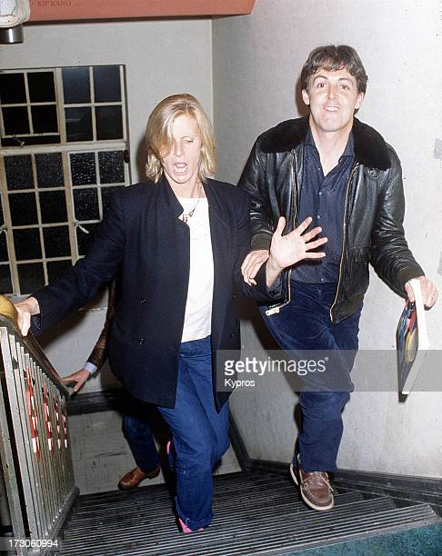 English singer songwriter and musician Paul McCartney with his wife Linda circa 1985