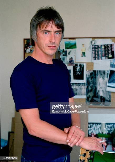 English singer, songwriter and musician Paul Weller, formerly of The Jam and The Style Council, posed, London, 1998.