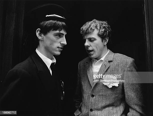 English singer songwriter and musician Paul Weller with keyboardist Mick Talbot in Paris France 1981 The two were soon to form the band Style Council