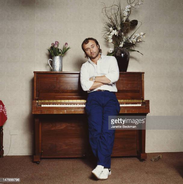 English singer songwriter and musician Phil Collins New York City 1985