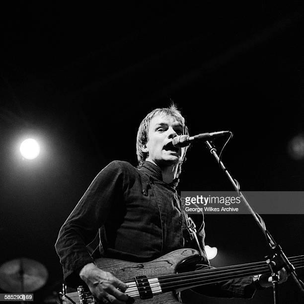 December 1979: English singer, songwriter and musician Sting, born Gordon Sumner, in concert.