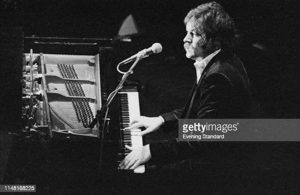 English singer songwriter and pianist Gary Brooker performing live UK 2nd January 1976