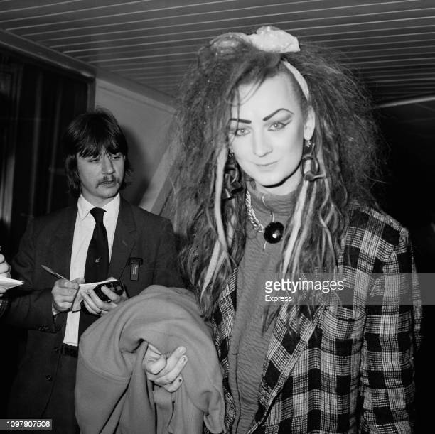 English singer songwriter DJ and fashion designer Boy George UK 25th April 1984