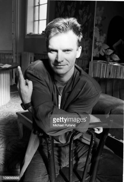 English singer, songwriter, musician and actor Sting in New York at the start of his first solo tour, 1985.