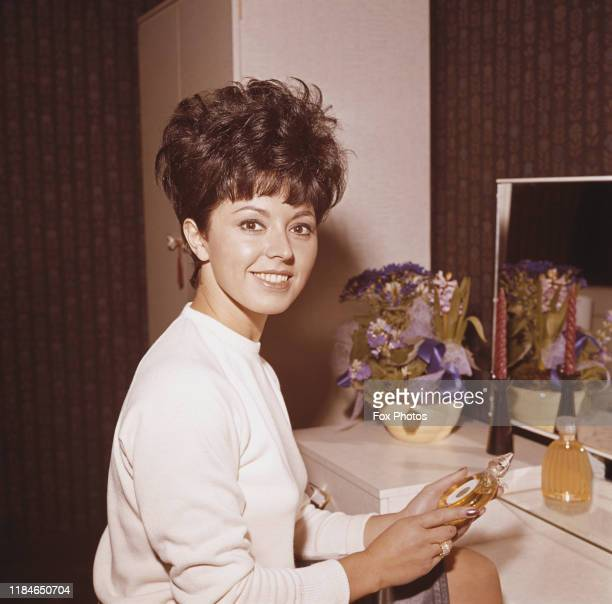 English singer Susan Maughan at the Furniture Exhibition at Earl's Court London January 1964