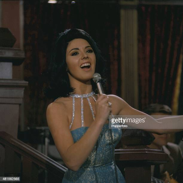 1968 English singer Susan Maughan performs on the television series 'Stars Garters' in 1968
