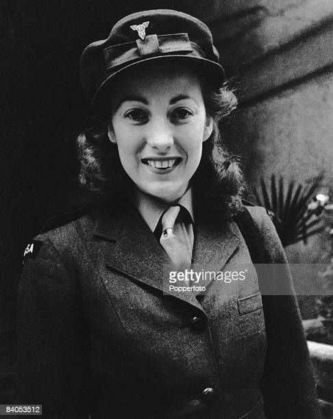 English singer Vera Lynn the 'Forces' Sweetheart' in ENSA uniform 1941