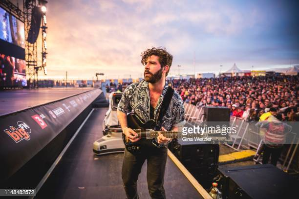 English singer Yannis Philippakis of Foals performs live on stage during Rock am Ring at Nuerburgring on June 7, 2019 in Nuerburg, Germany.