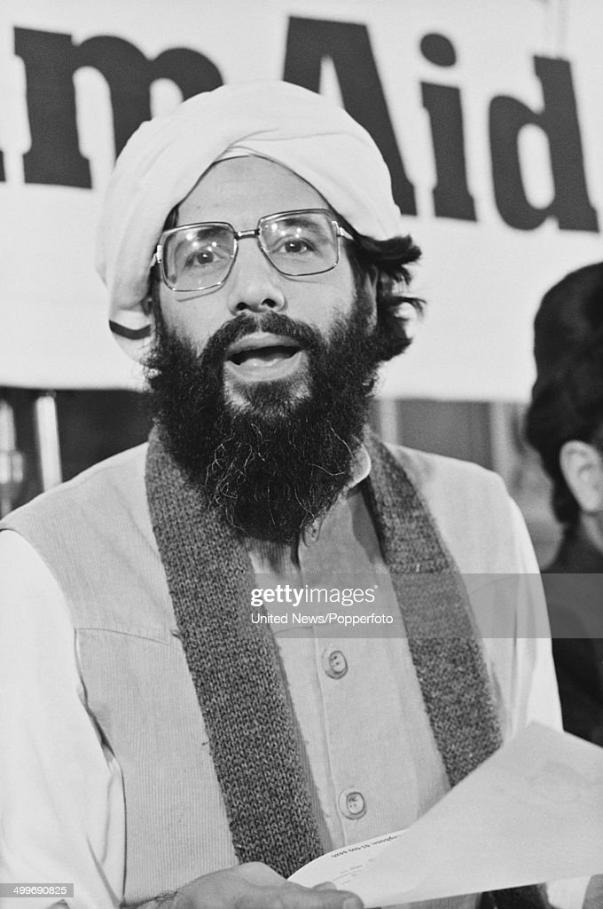 English singer Yusef Islam (formerly known as Cat Stevens) posed at a conference in London on 27th February 1986.