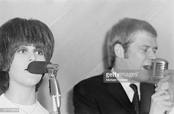 English singers Julie Driscoll and Long John Baldry performing with Steampacket at the Uxbridge Blues Festival 18th June 1966