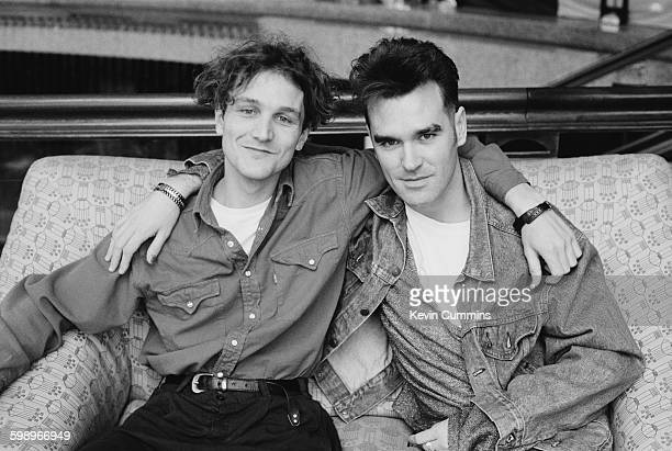 English singers Tim Booth of pop group James and Morrissey Cologne Germany May 1991