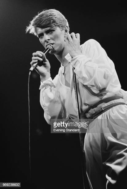 English singersongwriter actor and musician David Bowie performing at Earls Court London UK 30th June 1978