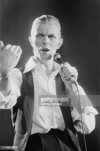 English singer-songwriter and actor David Bowie performs at Wembley Empire Pool, London, UK, 4th May 1976.