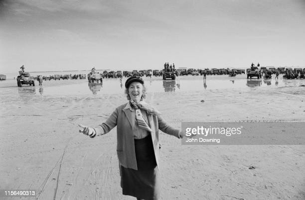 English singersongwriter and actress Vera Lynn at Utah Beach to commemorate the 40th anniversary of the DDay Normandy France 6th June 1984