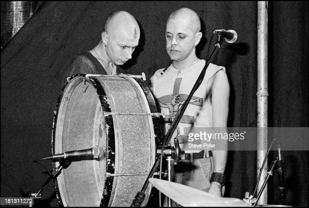 English singersongwriter and artist Genesis POrridge at the first British performance by experimental music group Psychic TV at the Ritz Manchester...