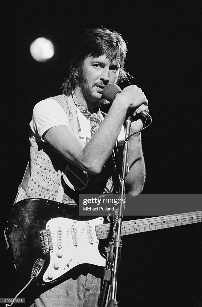 English singer-songwriter and guitarist Eric Clapton, performing during his US tour, July 1974.