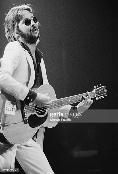 English singersongwriter and guitarist Eric Clapton performing during his US tour 17th July 1974