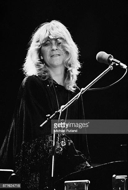English singersongwriter and keyboard player Christine McVie performing with Fleetwood Mac at Nassau Coliseum Uniondale New York 26th March 1977