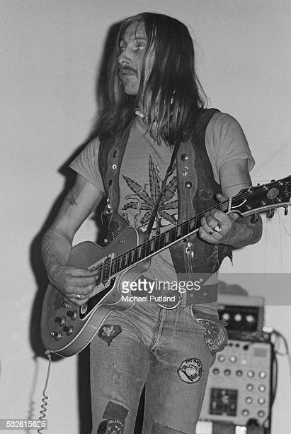 English singersongwriter and musician Dave Brock of space rock group Hawkwind February 1975