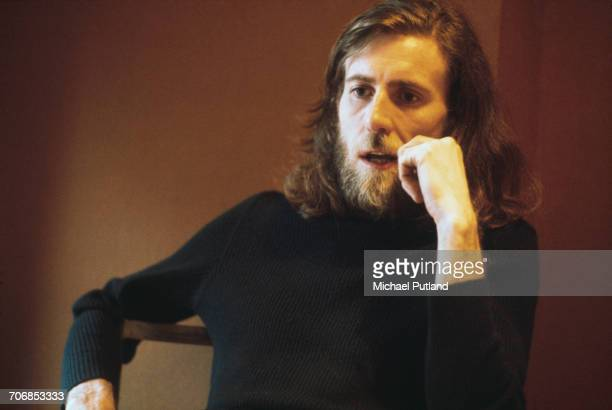 English singersongwriter and musician Graham Nash of Crosby Stills And Nash and previously The Hollies portrait being interviewed in London 9th April...