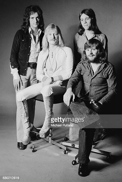English singersongwriter and musician John Miles with his backing group 27th September 1974
