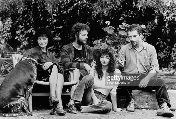 English singersongwriter and musician Kate Bush with her mother Hannah Daly and her brothers Paddy and John at their home in East Wickham London 26th...