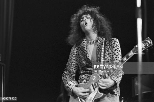 English singersongwriter and musician Marc Bolan of T Rex performing in Copenhagen Denmark March 1973