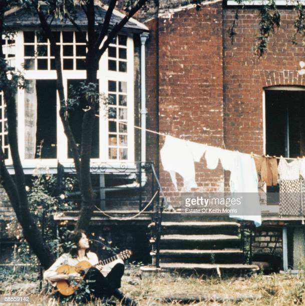 English singersongwriter and musician Nick Drake poses in a Hampstead garden 16th August 1970