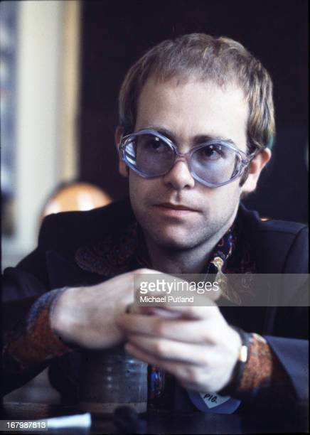 English singer-songwriter and pianist Elton John, London, 1973.