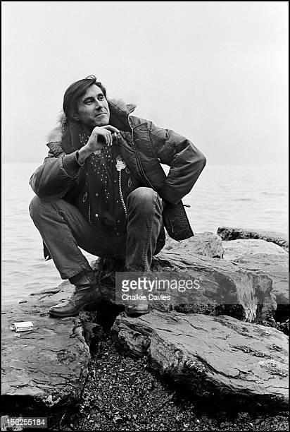 English singersongwriter Bryan Ferry on the shore of Lake Geneva Switzerland 1978