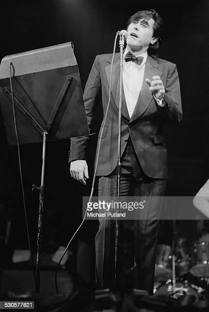 English singer-songwriter Bryan Ferry performing at the Royal Albert Hall, London, 19th December 1974.