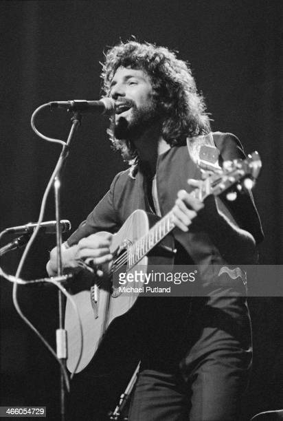 English singersongwriter Cat Stevens performing on stage 1974