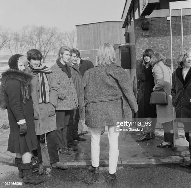 English singersongwriter David Bowie then still known as Davy Jones with his group The Manish Boys at BBC TV Centre where they will be performing...
