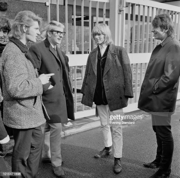 English singersongwriter David Bowie then still known as Davy Jones with members of his group The Manish Boys at BBC TV Centre where they will be...