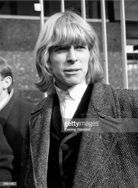 English singersongwriter David Bowie then still known as Davy Jones at BBC TV Centre London March 1965 Jones and his group The Manish Boys performed...