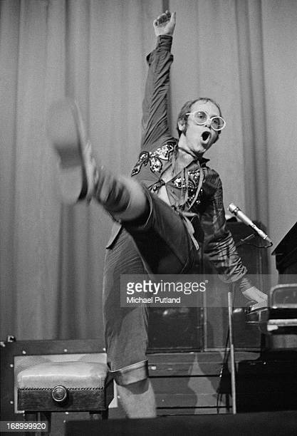 English singersongwriter Elton John performing at Portsmouth Guildhall 26th August 1972