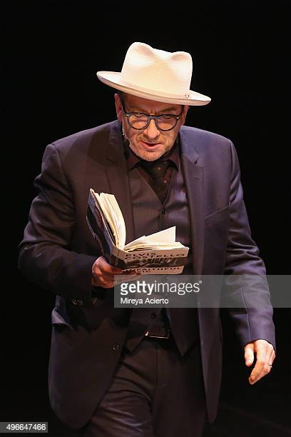 English singersongwriter Elvis Costello celebrates the launch of his new memoir Unfaithful Music Disappearing Ink at BAM Howard Gilman Opera House on...