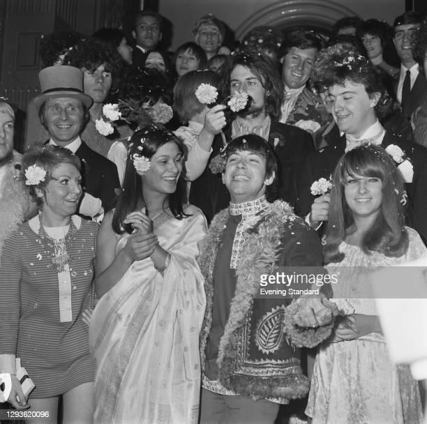 English singer-songwriter Eric Burdon of The Animals marries Angie King in London, UK, 7th September 1967.