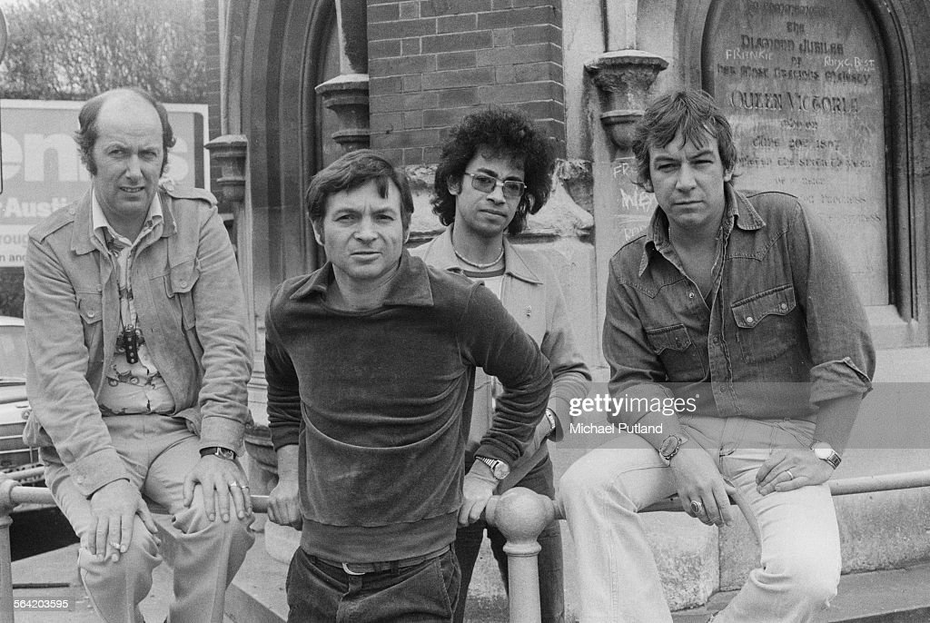 English singer-songwriter Eric Burdon (right) with The Eric Burdon Band, 14th April 1976.
